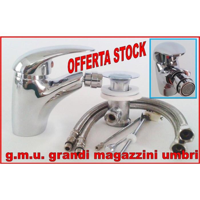 Miscelatore rubinetto monocomando bidet completo 1502 casa - Rubinetto chiusura acqua bagno ...