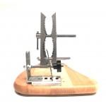 Morsa Fermaprosciutto Professionale Nino II inox base in legno Morsa Prosciutto Inox