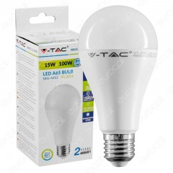 LAMPADINA LED E27 15W BULBO BIANCO NATURALE