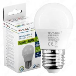 LAMPADINA LED E27 5.5W MINIGLOBO BIANCO FREDDO