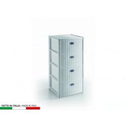 CASSETTIERA ELEGANCE 4 CASSETTI  40X40XH80 BIANCA