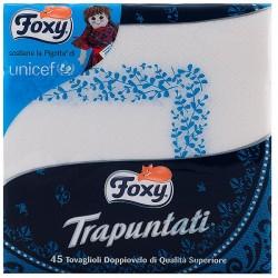 TOVAGLIOLI FOXY 40X40 TRAPUNTATI 45 TOVAGLIOLI