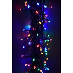 CATENA LED 300 MULTICOLOR PER ESTERNO LUCI NATALE