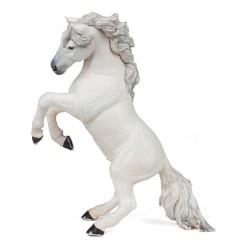 Figurina storica soldato 1:20 animale domestico Cavallo frisone