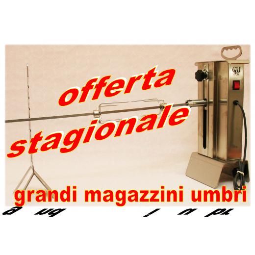 Girarrosto Professionale Inox Portata 20Kg Girarrosto Elettrico Motore con Spiedo per Camino a Legna Carbonella Barbecue Grill Arrosto
