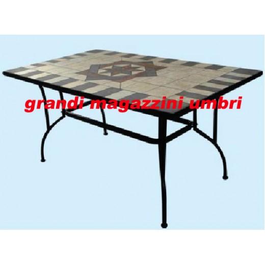 Tavolo ferro battuto artdeco esterno - Tavolo ferro battuto ...