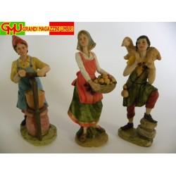 Personaggi Presepe Figure Presepe Statue Statuine Decorazione Presepe H cm 18